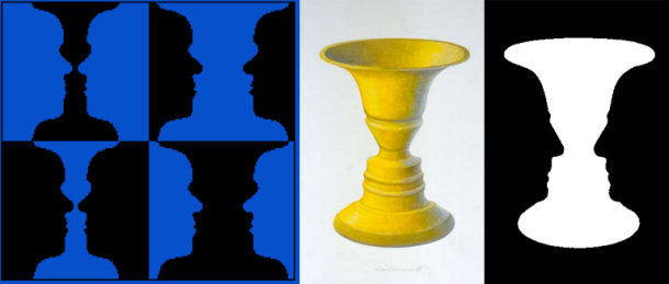 The famous ambiguous figure devised by the Danish psychologist Edgar Rabin