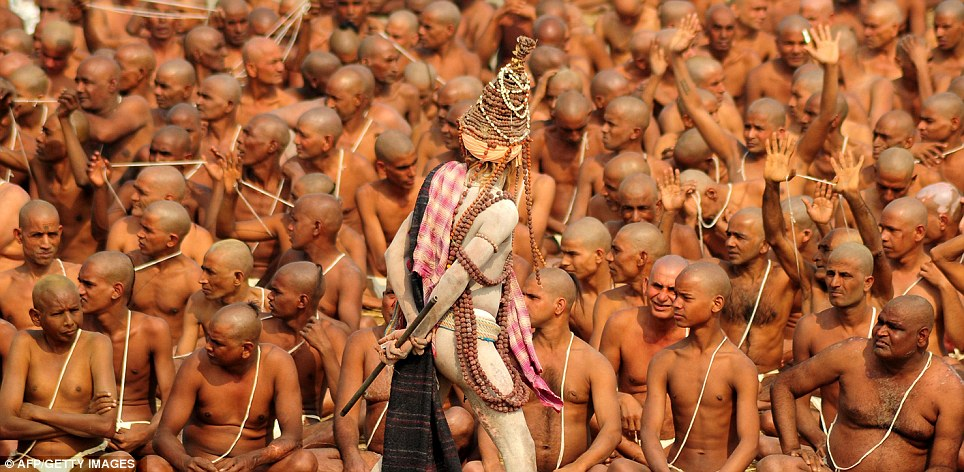 Initiation of the mysterious 'Naga Sadhus', a  secretive Hindu sect. By Sam Webb. Mail Online 30 January 2013.