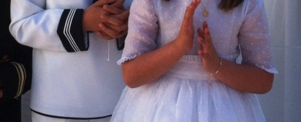First Communion - Catholic ritual in spain. Photo by Andrew Forbes.
