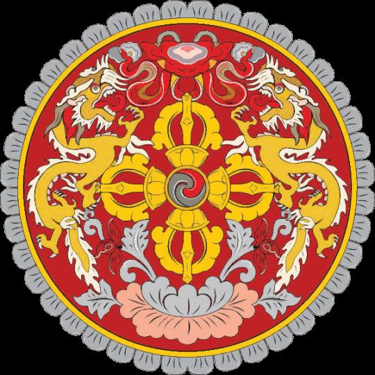 The emblem of Bhutan