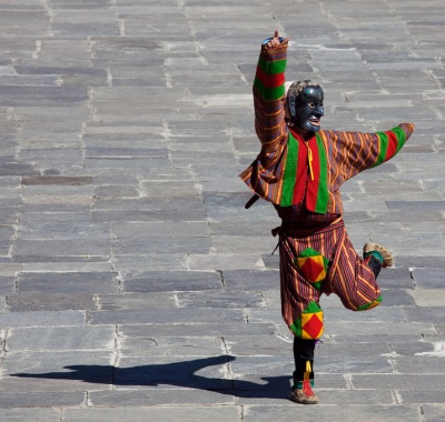 Mask Dance at the Timphu Tshechu. Image by Gelay Jamtsho. Cropped by Rui Martins.