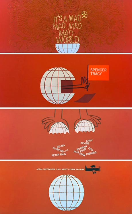 Saul Bass- It's a Mad Mad Mad Mad World, 1963