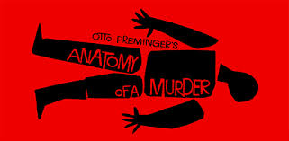 Detail from Saul Bass's movie poster for Preminger's Anatomy of a Murder (1959)