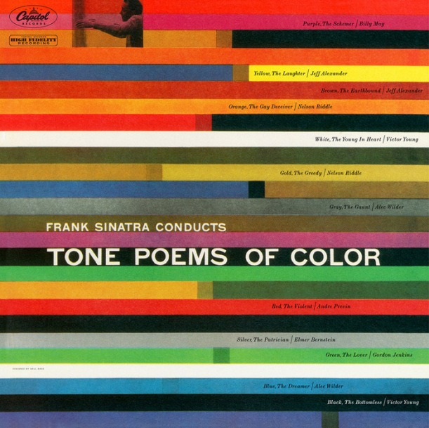 LP sleeve for Tone Poems of Color  by Sinatra.
