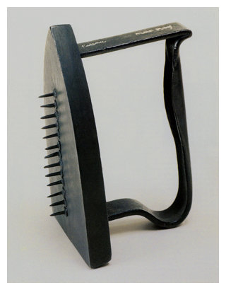 MAN RAY (1890-1976) 'Cadeau (Gift)' 1921 (Flat Iron with Brass Tacks)